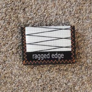 BRAND NEW ragged edge 100% man made vegan wallet